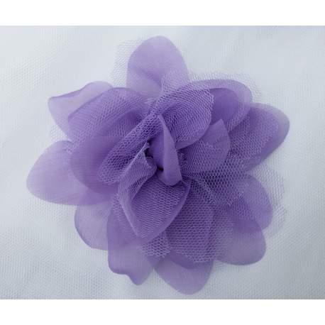 Bloem van tule en organza lavendel