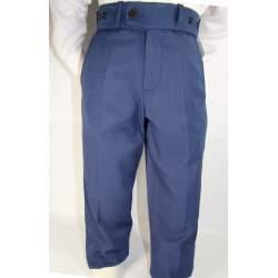 Jongenspantalon effen kobaltblauw