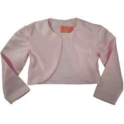 Satijnen meisjes bolero N&J roze