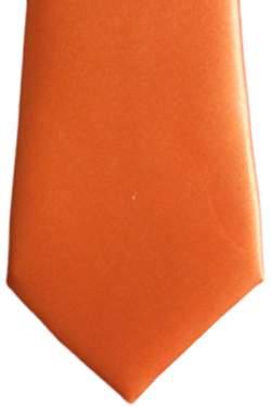 Satijnen kinderstropdas oranje 32 cm.