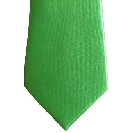 Groene satijnen das 32cm.