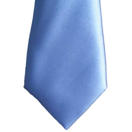 Baby stropdas satijn middenblauw