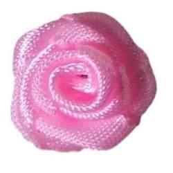 Haarbloem fel roze 1,5 cm.