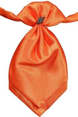 Oranje satijnen plastron
