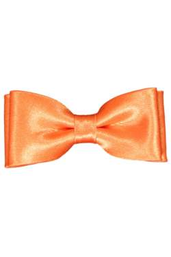 Oranje satijnen strik