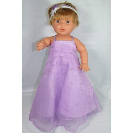 Baby feestjurk Viola lila