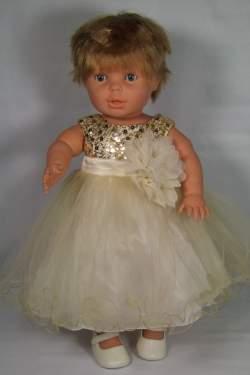Babyjurkje Lara goudkleurig