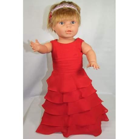 Baby feestjurk Wendy rood