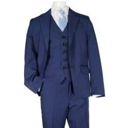 Jongens kostuum effen kobalt blauw