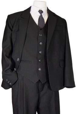 Jongens kostuum N&J effen zwart
