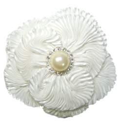 Ivoor kleurige corsage met parel en strass