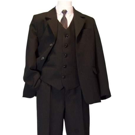 Jongens kostuum zwart streepje