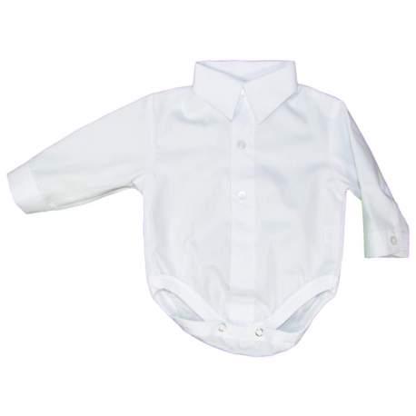 Baby overhemd romper wit katoen